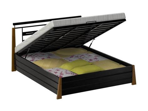 furniturekraft king size bed with storage in black and brown buy furniturekraft king size bed