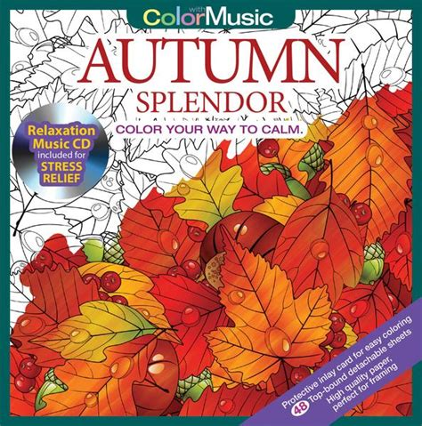 coloring book album songs autumn splendor coloring book with relaxation cd