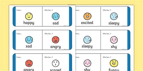 Blank Loop Cards Template by Feelings And Emotions Loop Cards