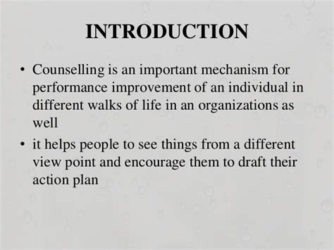 Mba Counselling Process by Counselling