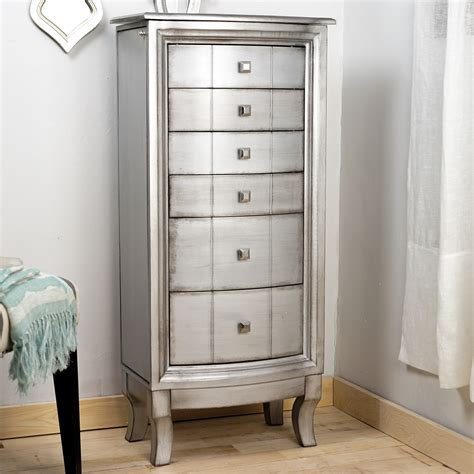 Silver Jewelry Armoire by Hives Honey Natalie Silver Jewelry Armoire