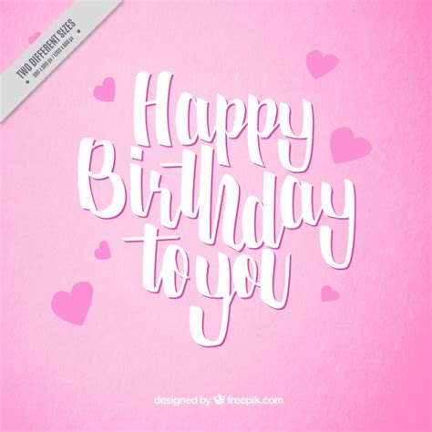 Happy Birthday Card Pink