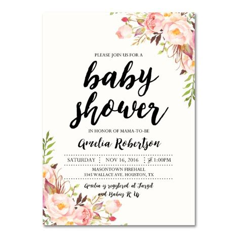 Baby Shower Invites For by 25 Unique Baby Shower Invitation Templates Ideas On