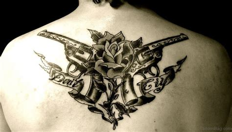 Tattoo Gun Back | 64 ultra modern gun tattoos for back