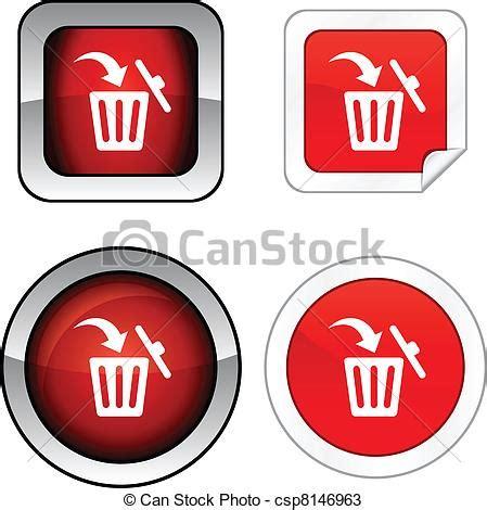 Vectors of Delete button set. - Delete web buttons. Vector ...