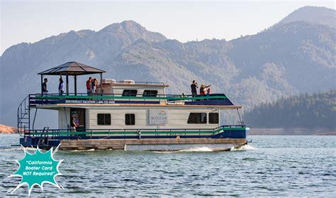 lake shasta boat rentals bridge bay resort shasta lake houseboat rentals