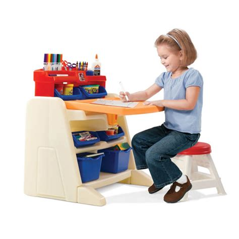 flip and doodle desk step2 flip and doodle easel desk with stool for any