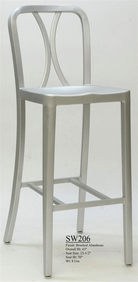 brushed aluminum navy backless swivel bar stool at tag archived of brushed aluminum backless bar stools