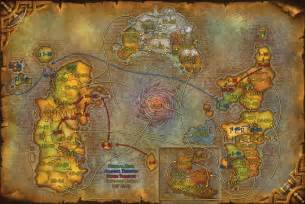 Wow World Map by Clothes And Stuff Online World Of Warcraft Map With Levels