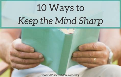 10 Ways To Keep Up With Revision by 10 Ways To Keep The Mind Sharp As We Age