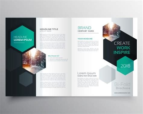 Brochure Template With Hexagonal Shapes Magazine World Design Brochure Design Brochure Magazine Brochure Template