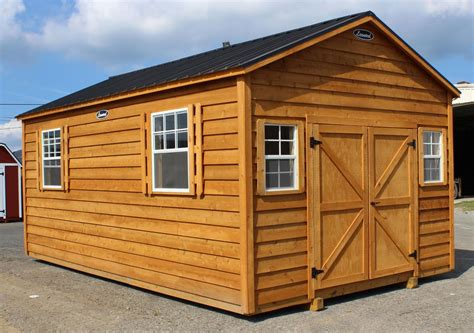 cedar split log storage sheds leonard buildings