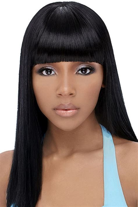 Chinese Bangs On Black Women | chinese bangs black hairstyle