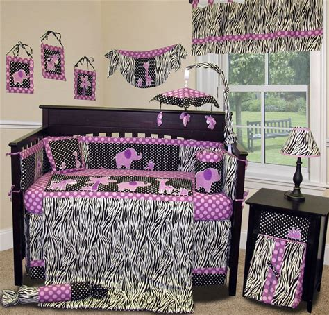 Baby Boutique Animal Planet Purple 15 Pcs Crib Nursery Baby Bedding Sets Purple