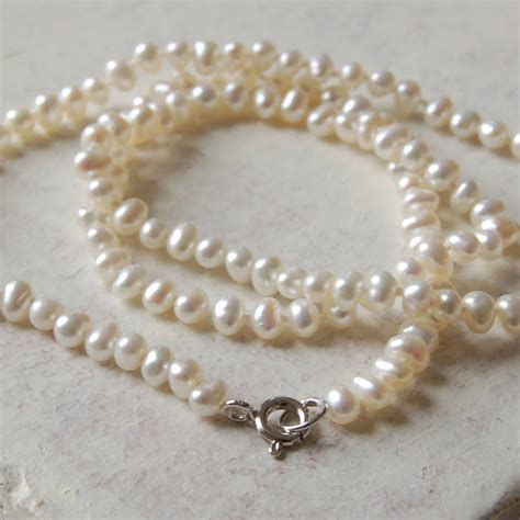 seed pearl necklace by highland notonthehighstreet