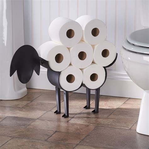 sheep toilet paper holder free standing bathroom tissue