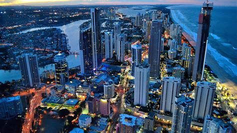 wallpaper gold coast download wallpaper gold coast in the evening lights