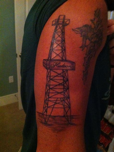 oilfield tattoos oilfield derrick tattoos www pixshark images