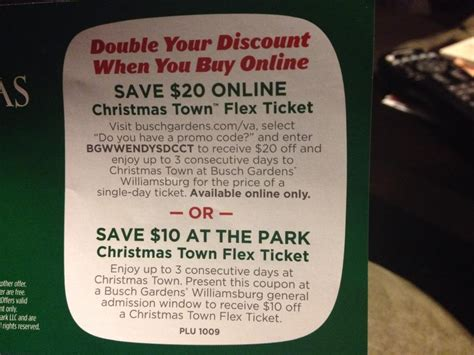 busch gardens christmas town archives  coupon challenge