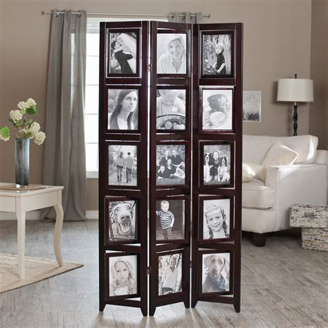 Room Seperator by Memories Sided Photo Frame Room Divider Rosewood