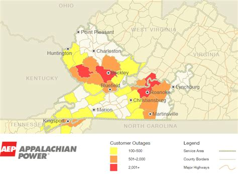aep power outage map aep current power outages wv