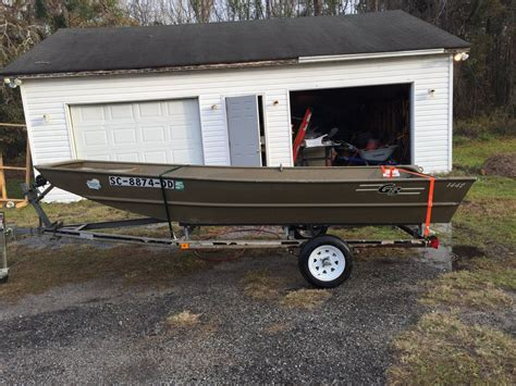 jon boats for sale no motor 2014 g3 1442 john boat w trailer the hull truth