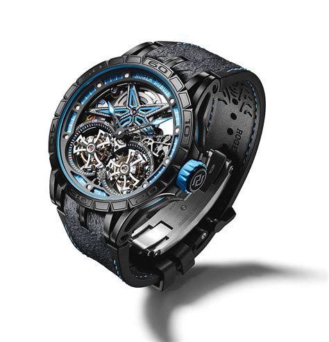 Roger Dubuis Excalibur Dual Tourbillon Black skeleton racers roger dubuis excalibur spider pirelli limited editions jewelry secure