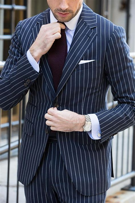 Good Color Combination by How To Wear A Blue Pinstripe Suit In The Spring He Spoke