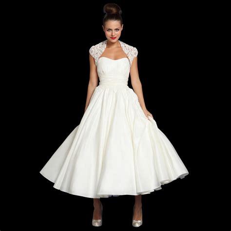 tea length vintage style wedding dress bolero