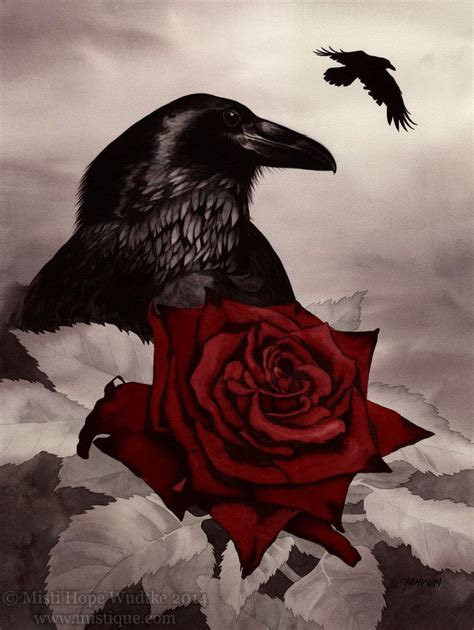 raven with rose tattoo the and the by mistiquestudio on deviantart