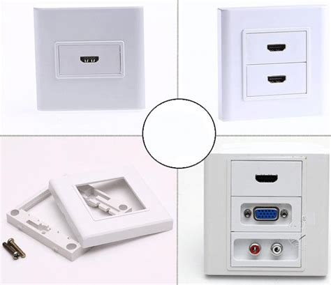 Faceplate Audio Rca Panel Outlet Socket vga hdmi audio rca faceplate wall plate outlet terminal