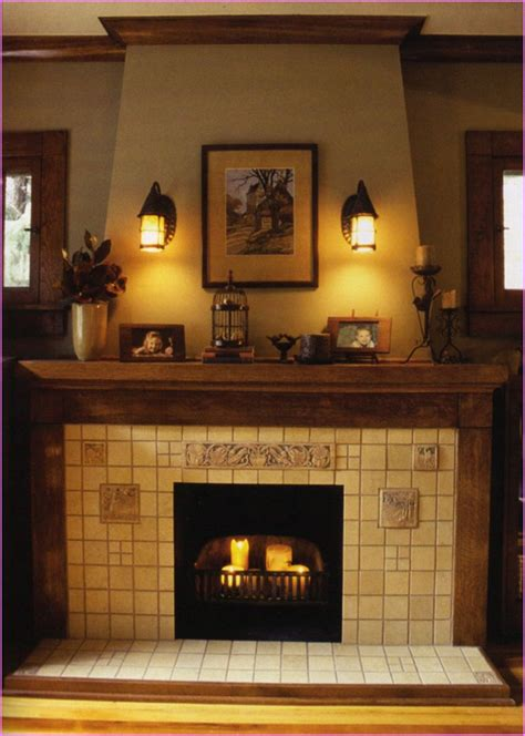 Design For Fireplace Mantle Decor Ideas 3 Wick Pillar Candles Home Design Ideas