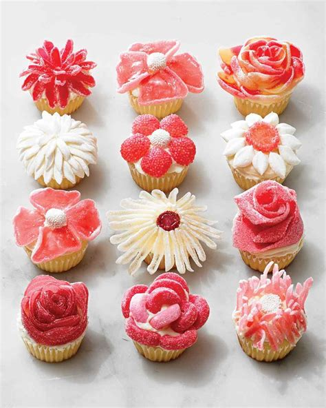 flower design cupcakes candy flower cupcakes no piping required martha stewart