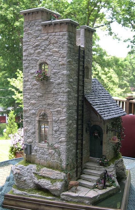 awesome miniature stone houses home design garden