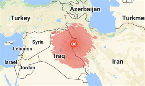 middle east earthquake map iran iraq border rocked by 7 3 magnitude