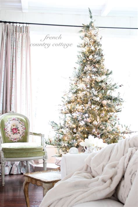 silver gold tree french country cottage