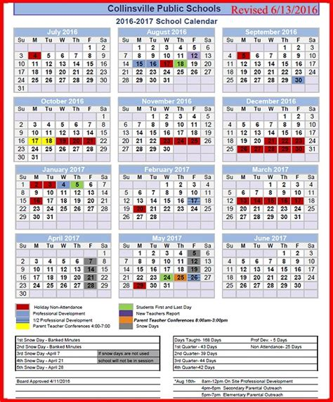 Broken Arrow School Calendar New Teachers Reported August 12 2016 Collinsville
