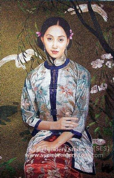 Mongolian Fiber Handmade Siyah Chinesse 167 best images about silk embroidery portrait on