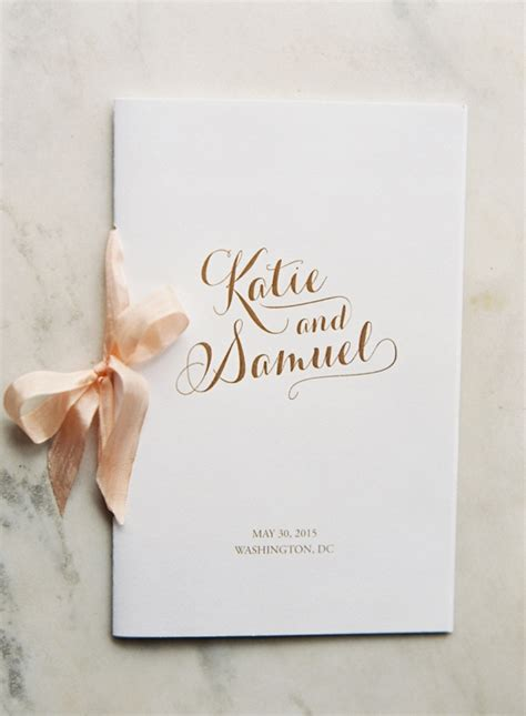 Wedding Ceremony Booklet by 20 Creative Ways To Use Ribbon In Your Wedding
