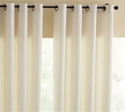 drape curtains indoor outdoor grommet drape pottery barn