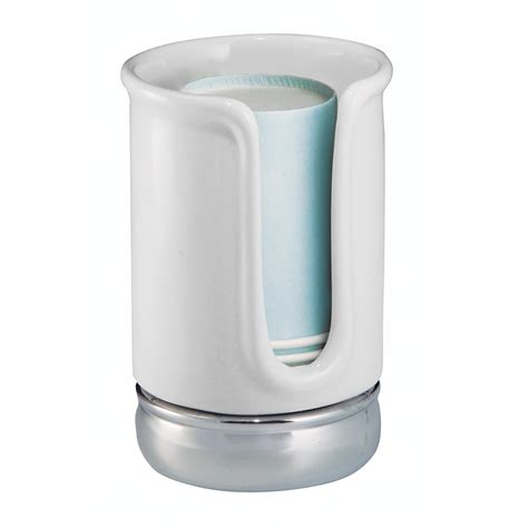 bathroom cup interdesign york bath collection disposable cup dispenser