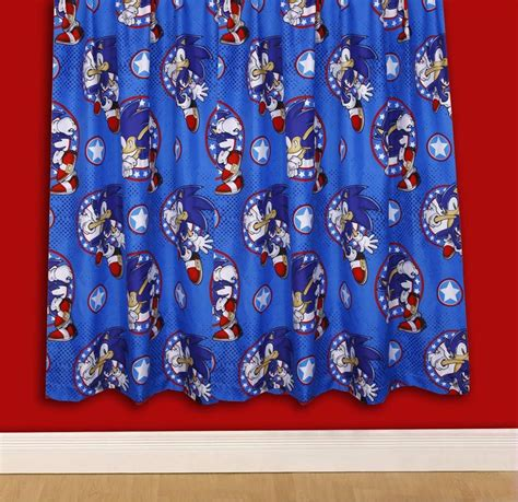 sonic bedding new sonic the hedgehog sprint double bedding set matching 72 drop curtains ebay