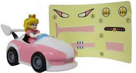 peach car wii mario kart racing collection 3 pull back cars w