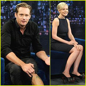 jimmy fallon tattoo skarsgard leg on fallon with carey