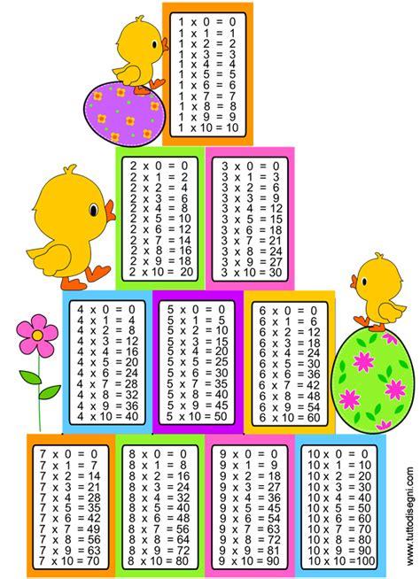 tavola pitagorica per bambini da stare tavola pitagorica scuola primaria 28 images pasqua