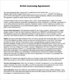 licensing agreement template artist agreement template 9 free word pdf documents