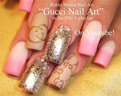 Guc Ci Silver Pink gucci nail matte pink and white with silver glitter