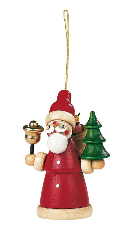 santa claus with tree images tree ornament santa claus 8 cm 3in by m 252 ller kleinkunst