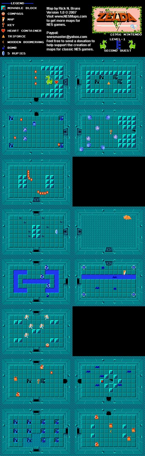 legend of zelda map level 1 the legend of zelda level 1 quest 2 map