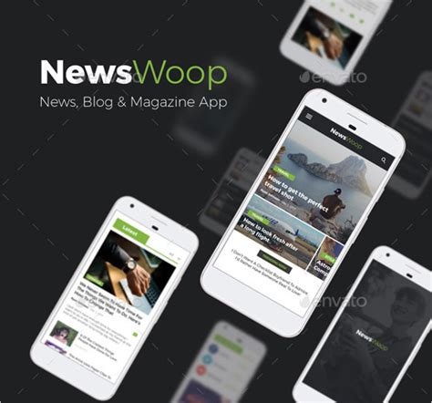 design news app android 50 android app design templates free psd download